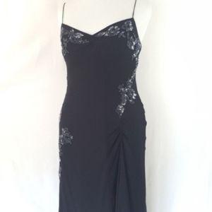 Vintage Womens Silk Dress Scala XXL Black